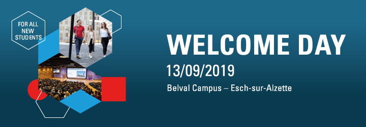 Welcome Day  - University of Luxembourg 13/09/2019