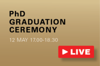 Connect to the ive stream of the PhD graduation ceremony