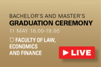 Connect to the live stream of the graduation ceremony of the Faculty of Law, Economics & Finance