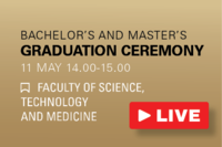 Connect to the live stream of the graduation ceremony of the Faculty of Science, Technology and Medicine