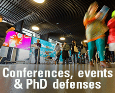 Conferences, events and PhD defences