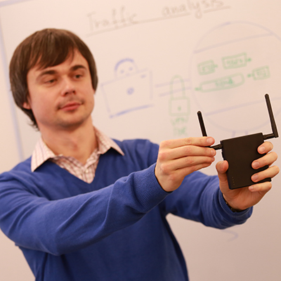 Andriy Panchenko works on secure Internet browsing, protecting us from 'eavesdropping'.
