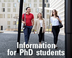 Information for PhD students
