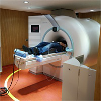 Participant in the MRI scanner