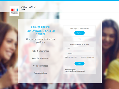 careercentre.uni.lu, the job platform for students and employers
