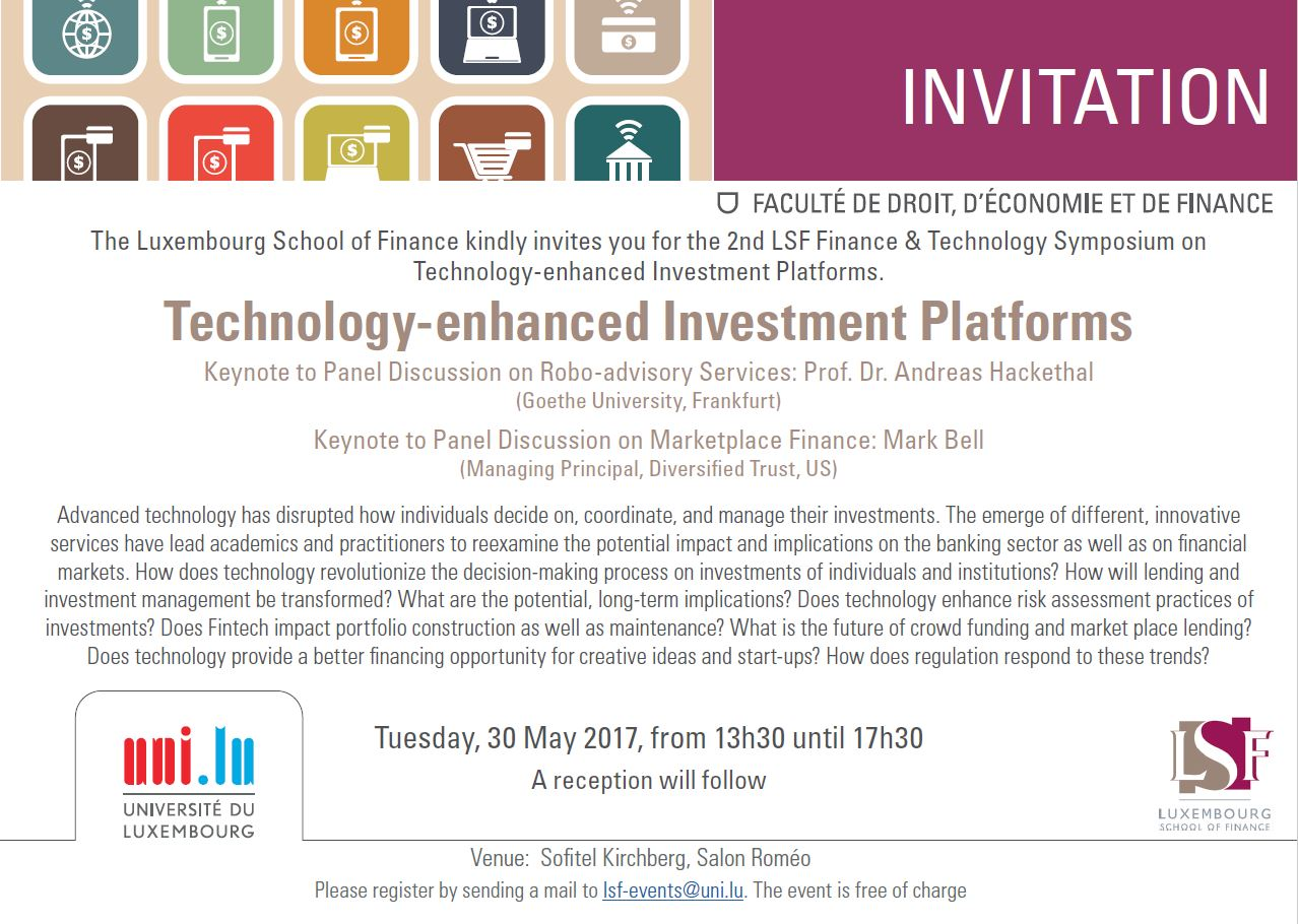 Invitation 2nd Annual Symposium On Finance Technology Technology